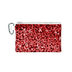 Red Cubes Canvas Cosmetic Bag (S)