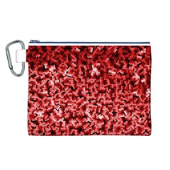Red Cubes Canvas Cosmetic Bag (L)