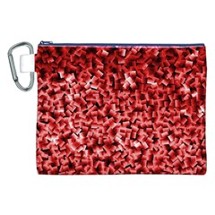 Red Cubes Canvas Cosmetic Bag (XXL)