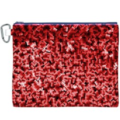 Red Cubes Canvas Cosmetic Bag (XXXL)