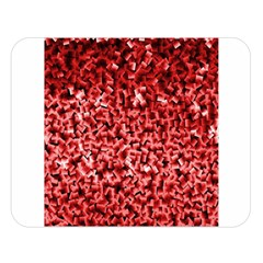 Red Cubes Double Sided Flano Blanket (Large)