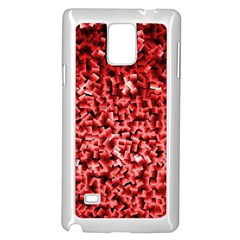 Red Cubes Samsung Galaxy Note 4 Case (white)