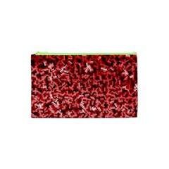 Red Cubes Cosmetic Bag (XS)