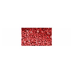Red Cubes Satin Scarf (oblong)