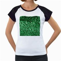 Green Cubes Women s Cap Sleeve T