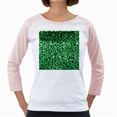 Green Cubes Girly Raglans