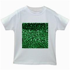 Green Cubes Kids White T-Shirts