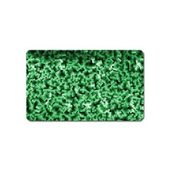 Green Cubes Magnet (name Card)