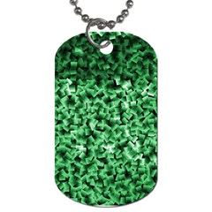Green Cubes Dog Tag (two Sides)