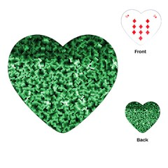 Green Cubes Playing Cards (heart)