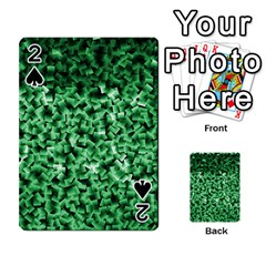 Green Cubes Playing Cards 54 Designs