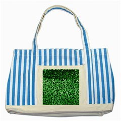 Green Cubes Striped Blue Tote Bag