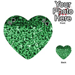 Green Cubes Playing Cards 54 (Heart)
