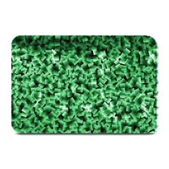 Green Cubes Plate Mats