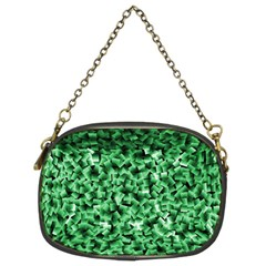 Green Cubes Chain Purses (two Sides)