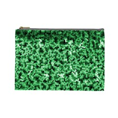 Green Cubes Cosmetic Bag (large)