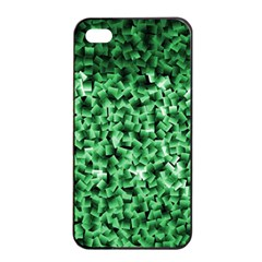 Green Cubes Apple iPhone 4/4s Seamless Case (Black)