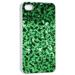 Green Cubes Apple iPhone 4/4s Seamless Case (White)