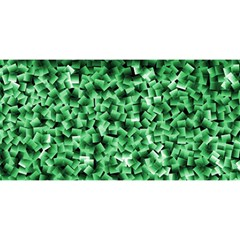 Green Cubes You Are Invited 3d Greeting Card (8x4)