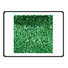 Green Cubes Double Sided Fleece Blanket (small)