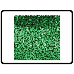 Green Cubes Double Sided Fleece Blanket (Large)