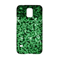 Green Cubes Samsung Galaxy S5 Hardshell Case