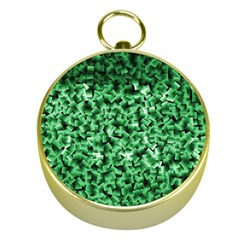 Green Cubes Gold Compasses