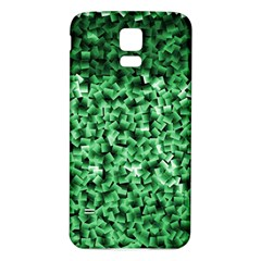 Green Cubes Samsung Galaxy S5 Back Case (White)