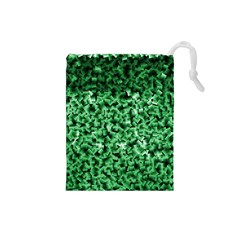 Green Cubes Drawstring Pouches (Small)