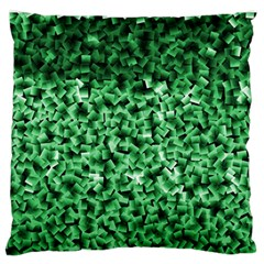 Green Cubes Large Flano Cushion Cases (One Side)
