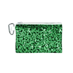 Green Cubes Canvas Cosmetic Bag (s)