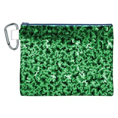 Green Cubes Canvas Cosmetic Bag (XXL)