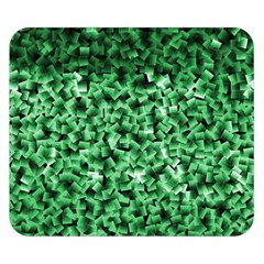 Green Cubes Double Sided Flano Blanket (Small)