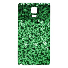 Green Cubes Galaxy Note 4 Back Case