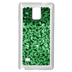 Green Cubes Samsung Galaxy Note 4 Case (White)