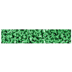 Green Cubes Flano Scarf (Small)