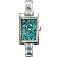Teal Cubes Rectangle Italian Charm Watches