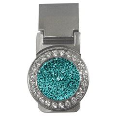 Teal Cubes Money Clips (cz)