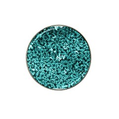 Teal Cubes Hat Clip Ball Marker (10 Pack)