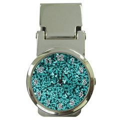 Teal Cubes Money Clip Watches