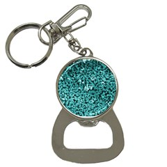 Teal Cubes Bottle Opener Key Chains