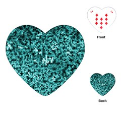 Teal Cubes Playing Cards (heart)