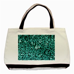 Teal Cubes Basic Tote Bag (two Sides)