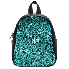 Teal Cubes School Bags (small)