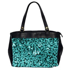 Teal Cubes Office Handbags (2 Sides)