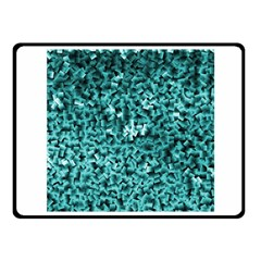 Teal Cubes Fleece Blanket (small)