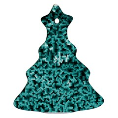 Teal Cubes Ornament (Christmas Tree)