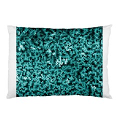 Teal Cubes Pillow Cases (two Sides)