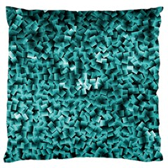 Teal Cubes Large Cushion Cases (two Sides)