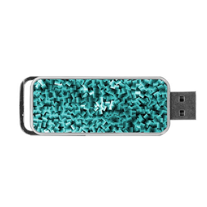 Teal Cubes Portable USB Flash (Two Sides)